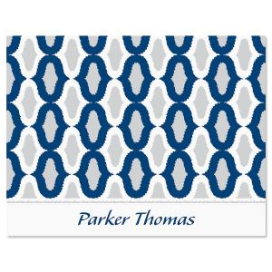 Ikat Personalized Note Card