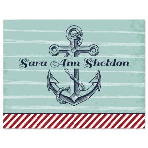 Personalized Nautical Note Cards