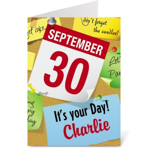 Personalized Your Day Birthday Card