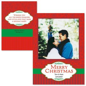Merry Greetings Photo Christmas Cards