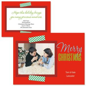 Decorative Accent Photo Christmas Cards