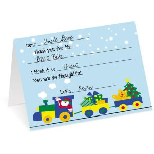 Holiday Train Thank You Cards