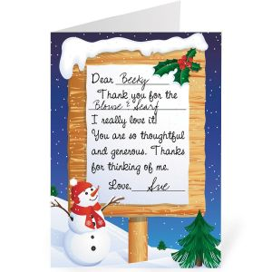 Winter Snow Thank You Cards