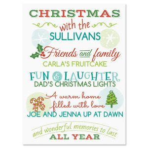 Our Family  Personalized Classic Christmas Cards