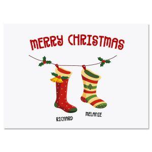 Christmas Stockings Create-A-Card Set of 18