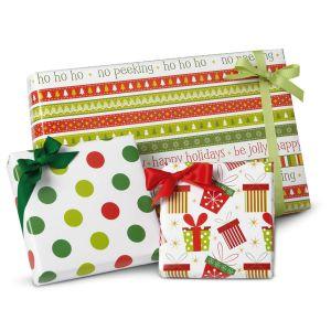 Christmas Fun Flat Gift Wrap Sheets