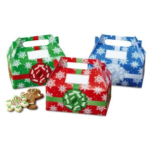 Snowflakes Holiday Fun Treat Boxes