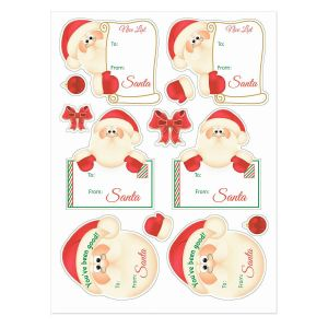 Santa Stickers - BOGO