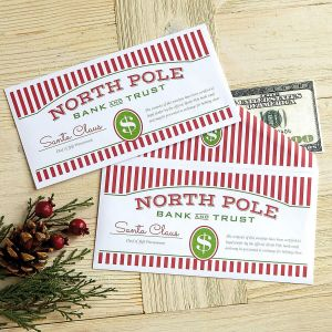 North Pole Money Envelopes