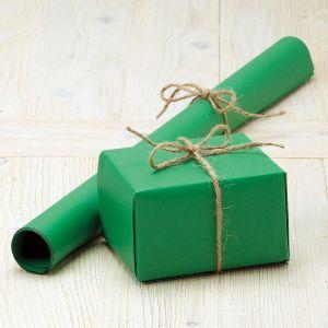 Green Plain Kraft Jumbo Roll Gift Wrap