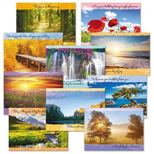 Scenic Inspirations Birthday Cards Value Pack