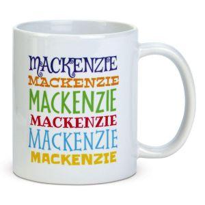 Stacked Name Mug