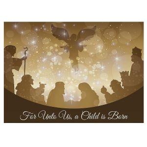 Golden Illumination Christmas Cards
