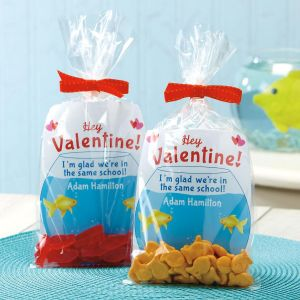 Fishbowl Valentines, Clear Treat bags, & Clear Twist Ties