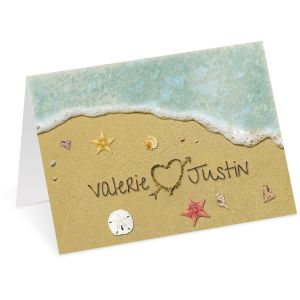 Hearts in Sand Valentine Create-A-Card