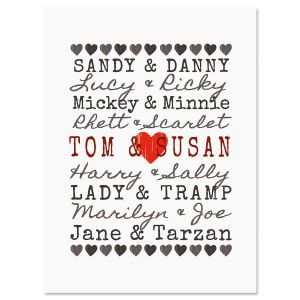 Famous Couples Valentine Create-A-Card