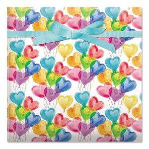 Lovely Balloons Rolled Gift Wrap