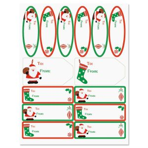 Holly, Jolly Christmas Matching Self-Stick Labels