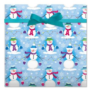 Snowmen and Mittens Gift Wrap