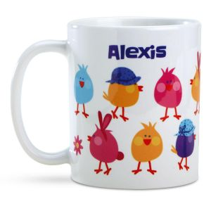 Chicks Personalized Easter Icon Mug