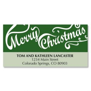 Christmas Script Matching Labels