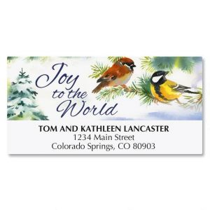 Joyful Birds Matching Labels