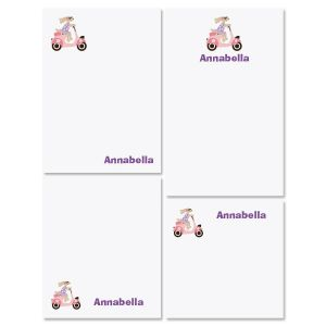 Pink Scooter Notepad Set