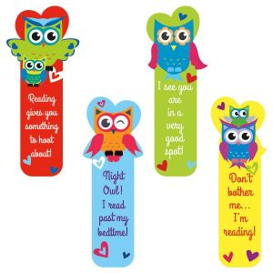 Diecut Owl Valentine Bookmarks