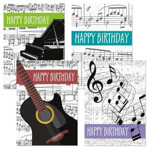 Music Birthday Cards & Seals