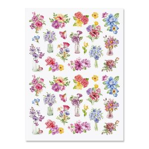 Watercolor Floral Stickers
