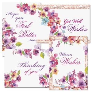 Floral Frame Get Well Cards