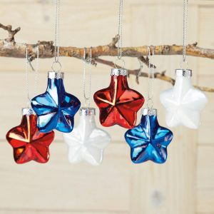 Red, White, and Blue Star Ornaments