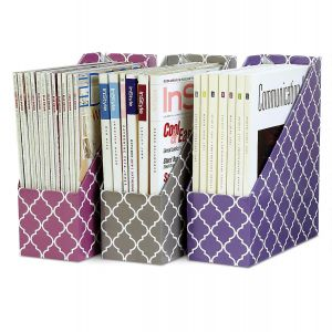 Quatrefoil Magazine Holders