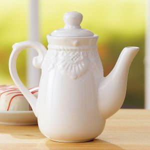 Mini White Ceramic Pitcher
