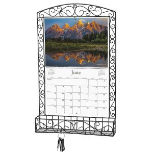 Bronze Swirls Wire Metal Calendar Holder