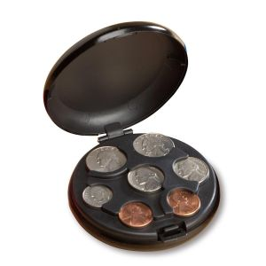 Black Coin Holder Case