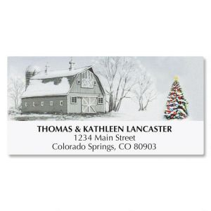 Winter Barn Address Labels