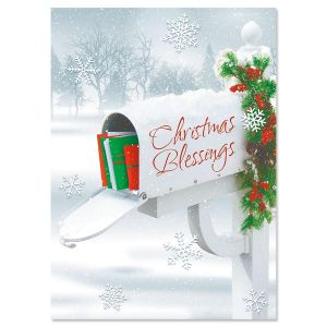 Holiday Delivery Nonpersonalized Christmas Cards - Set of 18