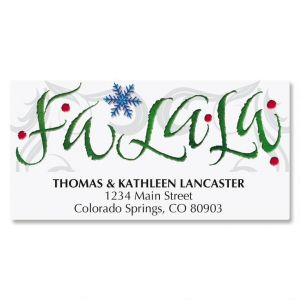 Fa La La Address Labels