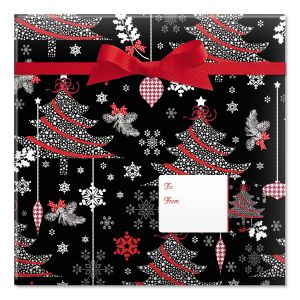 Decked Out Decor Jumbo Rolled Gift Wrap and Labels