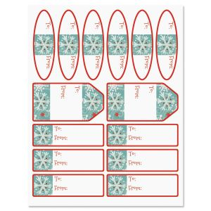 Winter Flakes Labels