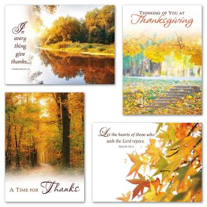 Faith Fall Scenic Thanksgiving Cards