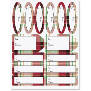 Classic Plaid Labels