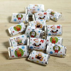 Santa's Helpers Holiday-Themed Mini Candy Bar Wrappers