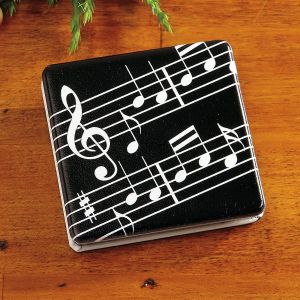 Music Notes Compact Mirror