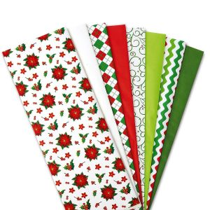 Christmas Prints and Solids Tissue Value Pack