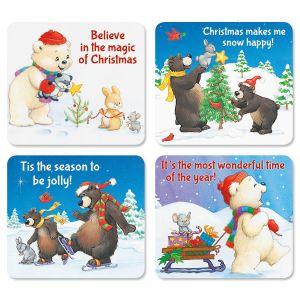 Christmas Bears Flexible Magnets