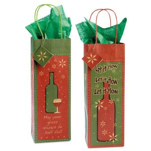 Christmas Wine Bottle Bags