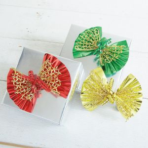 Metallic Foil Bows