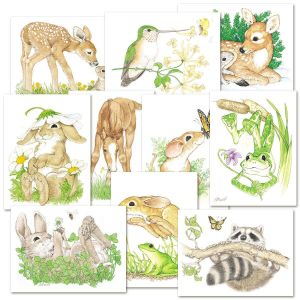 Cute Critters Note Cards Value Pack
